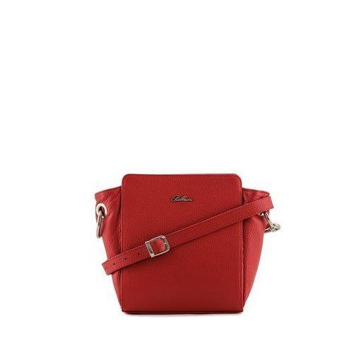 Czerwona torebka ze skóry na pasku - Franco Bellucci