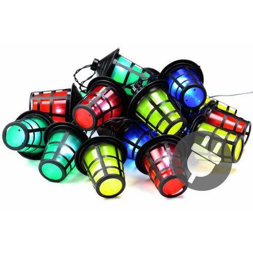 Kolorowe oświetlenie diodowe latarnie latarenki 20 LED - 5 m