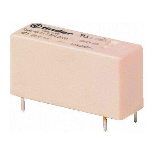 Przekaźnik 1CO 10A 24V DC, Styk AgNi + Au, wykonanie szczelne 43-41-7-024-5001