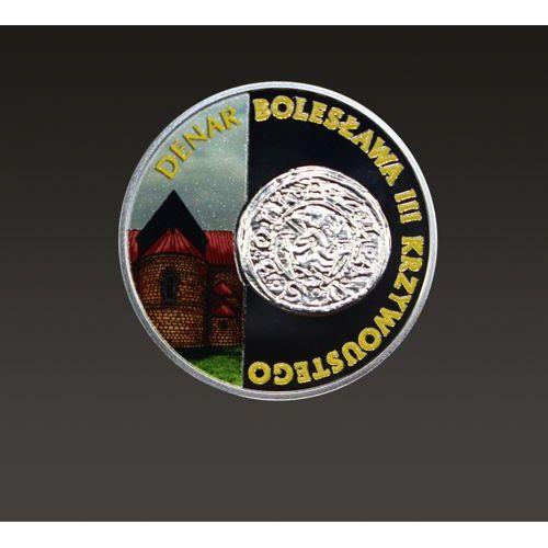 Historia Monety Polskiej - denar Bolesława III Krzywoustego - moneta malowana jednostronnie - wysyłka 24 h!