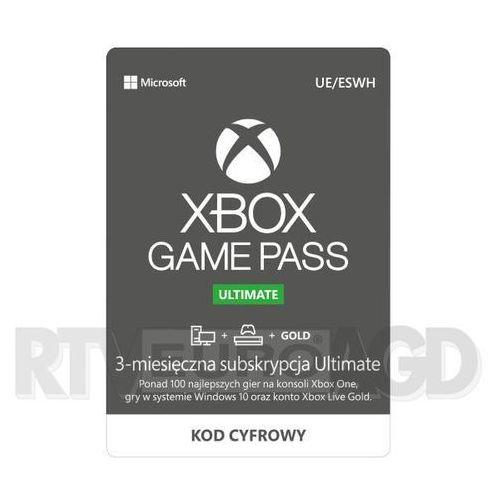 Microsoft Subskrypcja xbox game pass ultimate (3 m-ce) [kod aktywacyjny] (0000006201593)
