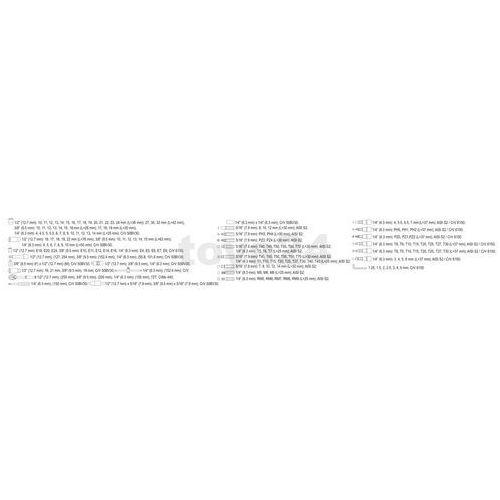 """Yato zestaw narzędziowy 1/4"""", 3/8"""", 1/2"""" kpl 173 szt (5906083389313)"""