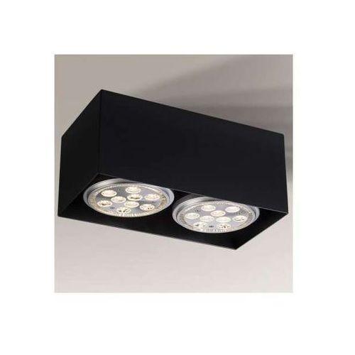 Natynkowa LAMPA sufitowa YATOMI 1211/GU10/CZ Shilo prostokątna OPRAWA regulowana SPOT czarny (1000000337754)