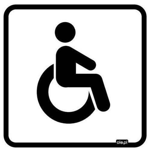 Naklejka informacyjna oznaczenie toalety WC dla niepełnosprawnych, RWCN