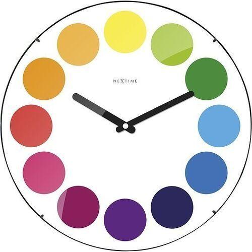 Zegar ścienny Dots Dome biały, kolor biały