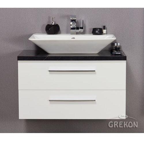 Szafka łazienkowa z umywalką nablatową 80/45 seria mossa marki Gante