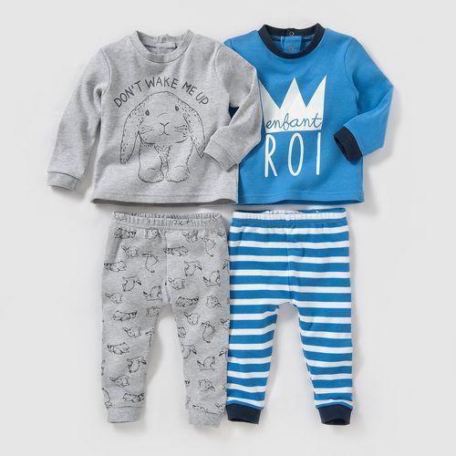 Bawełniana piżamka 0-3 lata (2 szt. w zestawie)