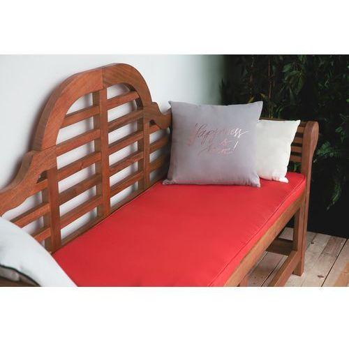 Beliani Ławka ogrodowa drewniana 180 cm poducha czerwona toscana marlboro
