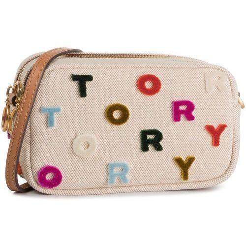 Tory burch Torebka - mini cross body bag 56297 natural/ multi color 265
