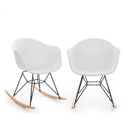 Blumfeldt skandi fotel bujany zestaw 2 sztuk polipropylen biały (4060656153136)