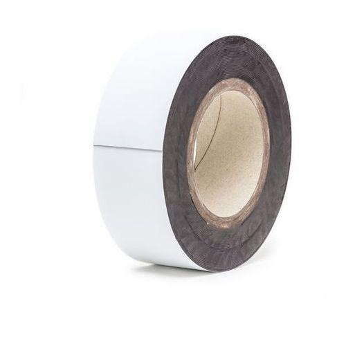 Magnetyczna tablica magazynowa, białe, rolka, wys. 50 mm, dł. rolki 10 m. zapewn marki Haas
