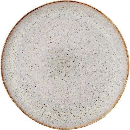 Bloomingville Talerz płaski sandrine jasnoszary 22 cm