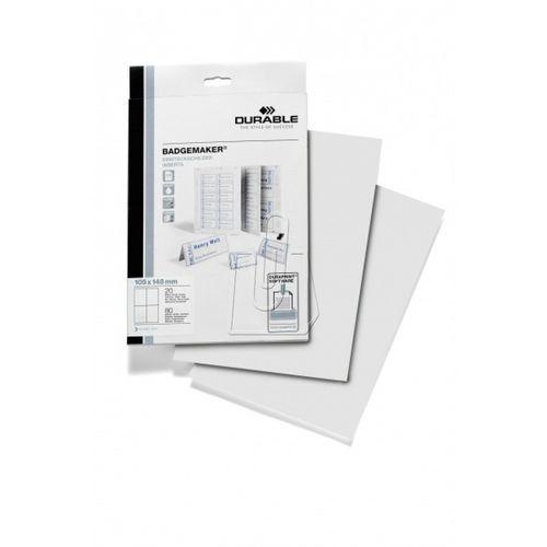 Wkłady do identyfikatorów Durable Badgemaker A6 80 szt. 1420-02