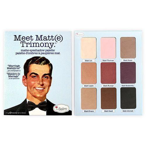 meet matt(e) trimony | paleta 9 matowych cieni do powiek z lusterkiem 21,6g marki Thebalm