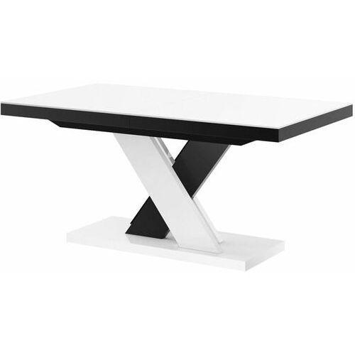 Stół rozkładany xenon lux 160-256 biało-czarny mix marki Hubertus