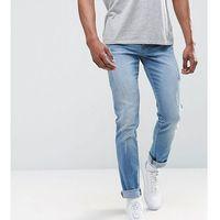 Loyalty and faith tall slim fit jean with abbrasions - blue marki Loyalty & faith