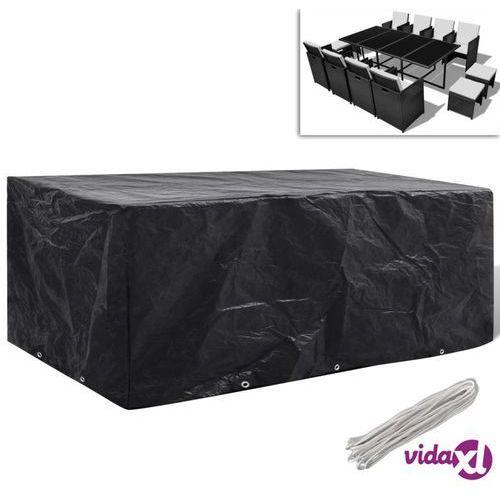 Vidaxl pokrywa na meble ogrodowe 229 x 113 cm z 10 oczkami