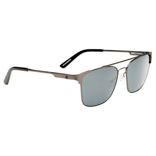 Okulary Słoneczne Spy WINGATE MATTE GUNMETAL - HAPPY GRAY GREEN W/ SILVER MIRROR, kolor zielony