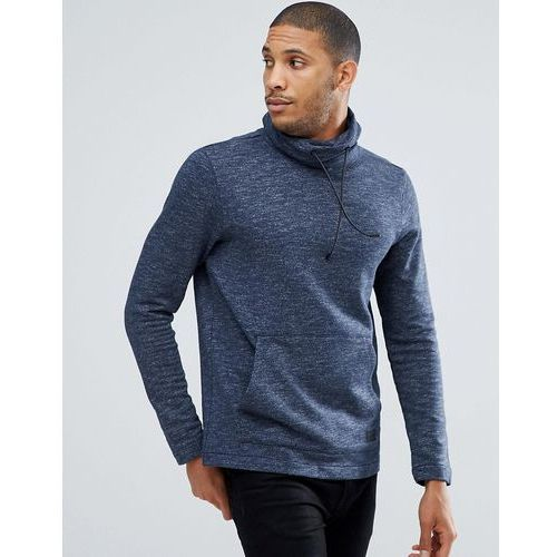 sweat with funnel neck in blue - blue marki Tom tailor