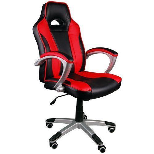 Fotel biurowy czarno-czerwony, model bsc041 marki Giosedio