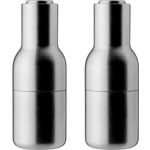 Młynek do pieprzu i soli bottle grinder 2 szt. stal szczotkowana marki Menu