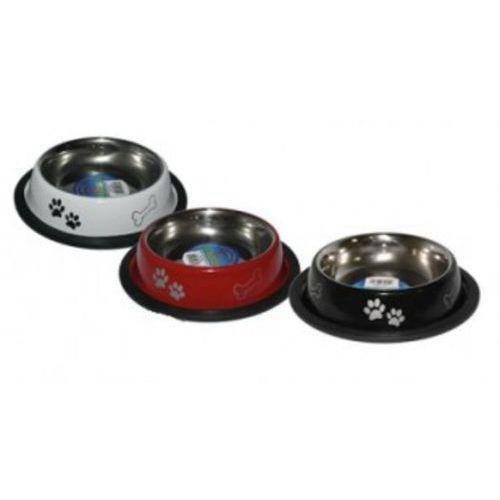 Yarro miska metalowa na gumie malowana motyw łapki i kostki 11 cm (5901436126706)