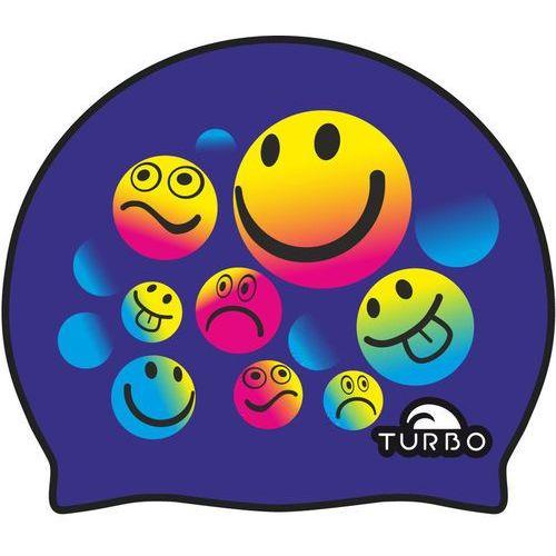 smiling czepek pływacki niebieski 2018 czepki pływackie marki Turbo