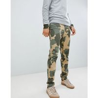 camo print dobby tapered chinos in green - green, Original penguin