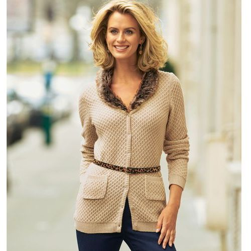 Długi sweter, 15% wełny, długi
