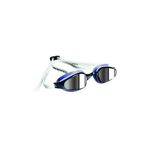 Damskie okulary pływackie k180 lady mirrored bílé/levandulové marki Michael phelps aqua sphere
