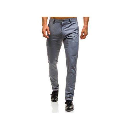 Spodnie chinosy męskie szare Denley 0204, kolor szary