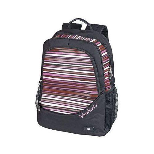 Plecak Venturio czarno-różowy (5901180305594)
