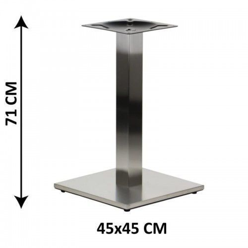 Podstawa stolika SH-2002-1/S/8, 45x45 cm, stal nierdzewna szczotkowana, obciążnik z tworzywa sztucznego, (stelaż stolika)