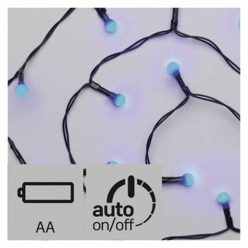 Lampki choinkowe EMOS 20 LED kulki 1.5m 2x AA IP20 Timer Niebieski ZY1947