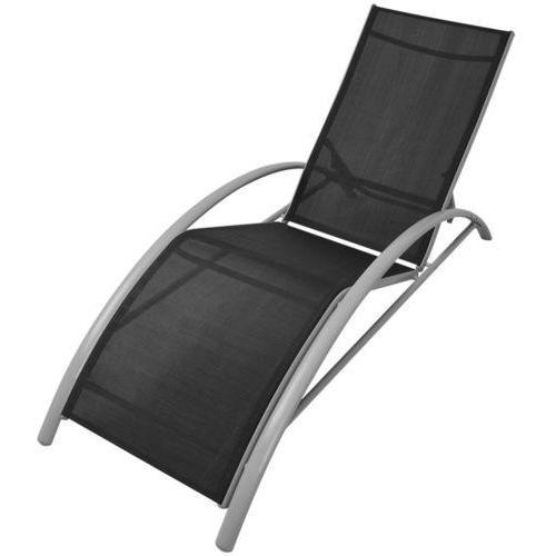 vidaXL Leżak z aluminium, czarny (8718475970491)