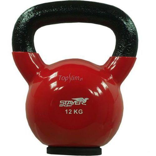 Stayer-sport Kettlebell żeliwno-winylowy z gumową podstawą stayer sport 12 kg - 12 kg