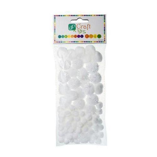 Pompony akrylowe Dalprint KSPO-008/85szt. - białe (5907589914115)