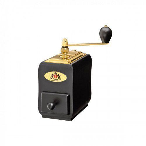 santiaho młynek do kawy z korbką, 9x14x20 cm, drewno bukowe, czarno-złoty marki Zassenhaus