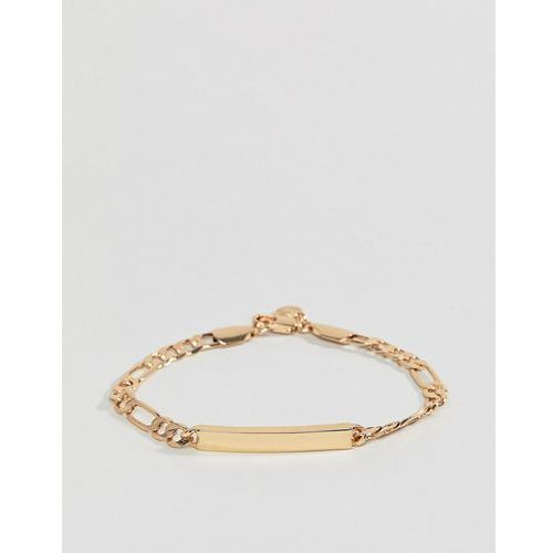 figaro id bracelet in gold - gold marki Chained & able
