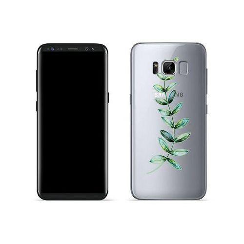 Samsung galaxy s8 - etui na telefon crystal design - zielona gałązka marki Etuo crystal design
