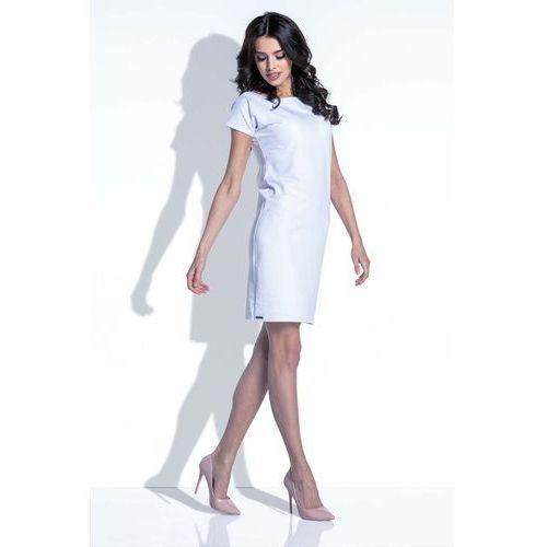 Biała Sukienka z Wycięciem na Plecach, 1 rozmiar