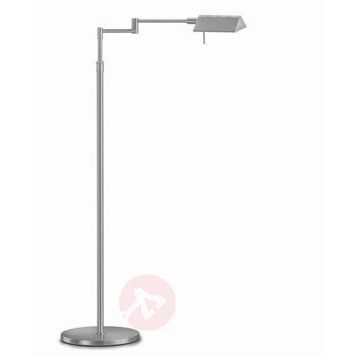 Danuta – regulowana lampa stojąca led, nikiel/mat marki Knapstein