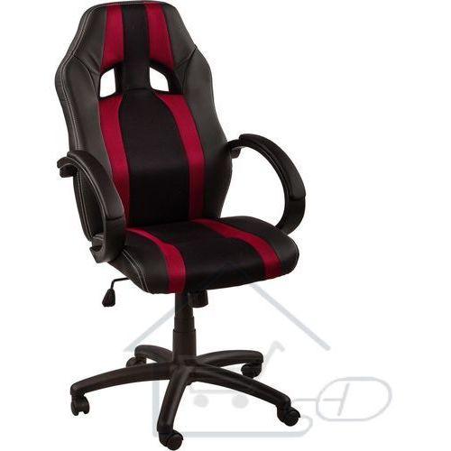 1 Fotel obrotowy dla gracza, racemaster, bordowe pasy