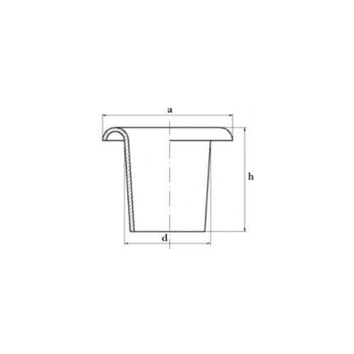 OKAZJA - Oczko Oczka kaletnicze 10x15x5,5mm Podkładka
