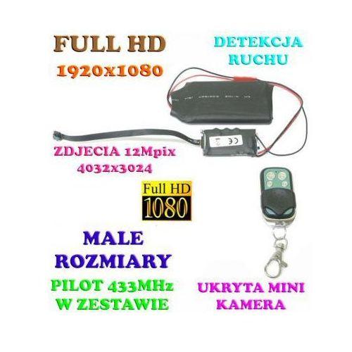 Mikro-Kamera FULL HD do Ukrycia, Nagrywająca Obraz i Dźwięk (14-dni Pracy!!) Detekcja Ruchu.., 590779339127