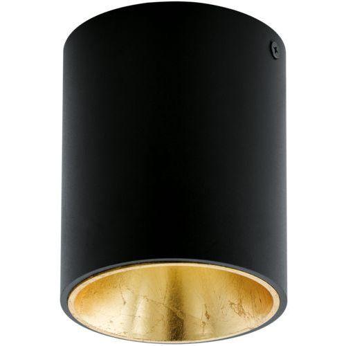 Downlight lampa sufitowa polasso 94502 plafon oprawa natynkowa led 3w ip20 okrągła tuba czarna marki Eglo
