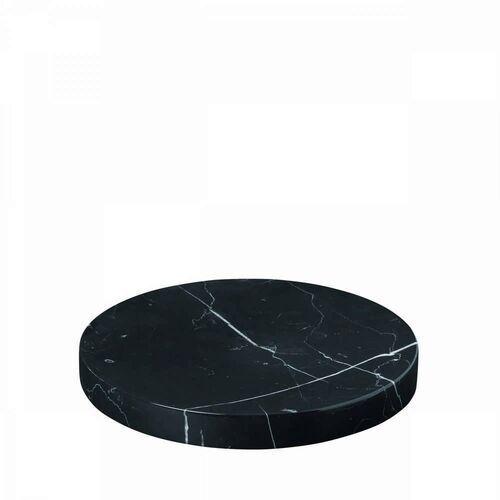 - podstawka marmurowa - 19 cm - pesa - czarna marki Blomus