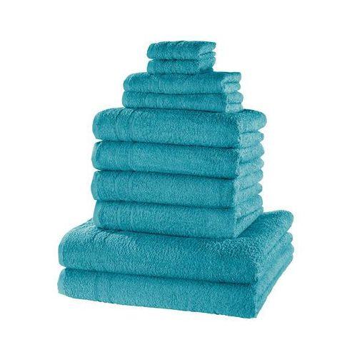 """Komplet ręczników """"New Uni Deluxe"""" (10 części) bonprix niebieskozielony morski"""