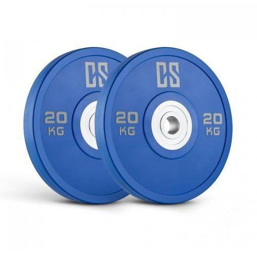 Capital sports performan urethane plates obciążenie para 20kg niebieskie