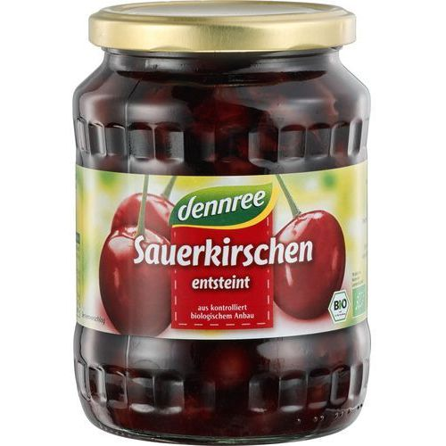 Dennree (dżemy, miody, herbaty) Wiśnie całe bez pestek z koncentratem soku jabłkowego bio 700 g (320 g) - dennree